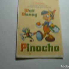 Cine: PROGRAMA PINOCHO - DISNEY - PUBLICIDAD JULIO ANTONIO - MORA DE EBRO -TARRAGONA. Lote 150157114