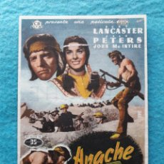 Cine: APACHE. BURT LANCASTER, JEAN PETERS, JOHN MC INTIRE...AÑO 1955.. Lote 150262866