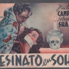 Cine: ASESINATO EN SOHO - PROGRAMA DOBLE DE ESTRELLA AZUL SIN PUBLICIDAD, RF-294. Lote 150318678