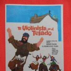Cine: EL VIOLINISTA EN EL TEJADO, IMPECABLE SENCILLO ORIGINAL, SIN PUBLICIDAD. Lote 150433138
