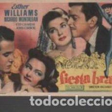 Cine: PROGRAMA D CINE FIESTA BRAVA - DE LA METRO - ESTHER WILLIAMS R. MONTALBAN DTOR R. THORPE. Lote 150671034