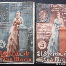 Cine: EL SECRETO DE ANA MARIA, LINA YEGROS, VARIANTE. Lote 150674834