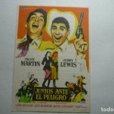 Cine: PROGRAMA JUNTOS ANTE EL PELIGRO .-JERRY LEWIS PUBLICIDAD. Lote 150683194