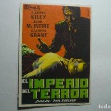 Cine: PROGRAMA EL IMPERIO DEL TERROR - RICHARD KILEY .-PUBLICIDAD. Lote 150690546