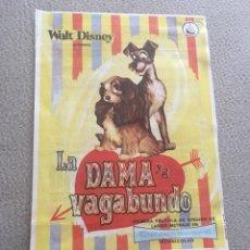 Flyers Publicitaires de films Anciens: LA DAMA Y EL VAGABUNDO SIN PUBLICIDAD. Lote 150759820
