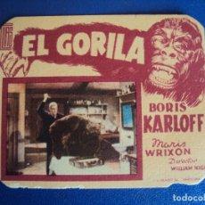 Cine: (PG-190204)EL GORILA - BORIS KARLOFF. Lote 150793354