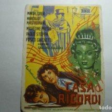 Flyers Publicitaires de films Anciens: PROGRAMA CASA RICORDI - MARCELLO MASTROIANNI -PUBLICIDAD. Lote 150820298