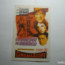 Cine: PROGRAMA EL JARDIN DEL DIABLO - GARY COOPER -PUBLICIDAD. Lote 150834338