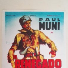 Cine: PROGRAMA DE CINE, EL RENEGADO, SIN PUBLICIDAD. Lote 150906494