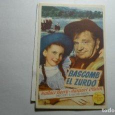 Cine: PROGRAMA BASCOMB EL ZURDO - WALLACE BEERY -PUBLICIDAD. Lote 150935518