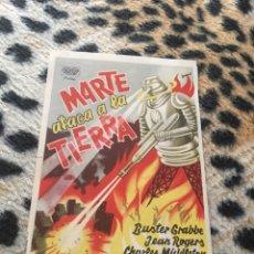 Flyers Publicitaires de films Anciens: MARTE ATACA A LA TIERRA SIN PUBLICIDAD. Lote 150942157