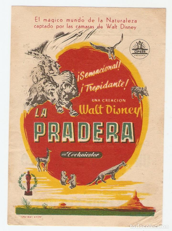 LA PRADERA - WALT DISNEY - CIFESA (Cine - Folletos de Mano - Documentales)