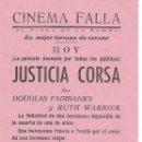 Cine: CINEMA FALLA GRANADA LA PELICULA JUSTICIA CORSA Y AGARRAME ESE FANTASMA . Lote 151023878