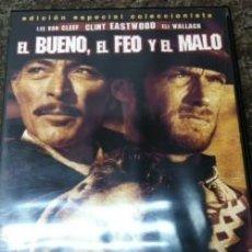 Cine: DVD EL BUENO, EL FEO Y EL MALO LEE VAN CLLER CLINT EASTWOOD. Lote 151036102
