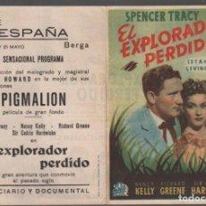 Cine: EL EXPLORADOR PERDIDO - PROGRAMA DOBLE DE 20 TH CENTURY FOX CON PUBLICIDAD , RF-676 BUEN ESTADO. Lote 151075554