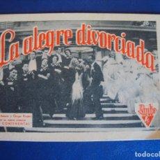 Cine: (PG-190289) LA ALEGRE DIVORCIADA - CINE IDEAL - AÑO 1935. Lote 151094246