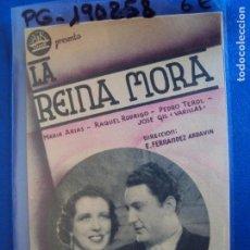 Cine: (PG-190258) LA REINA MORA - CINE ECHEGARAY - AÑO 1939. Lote 151119758