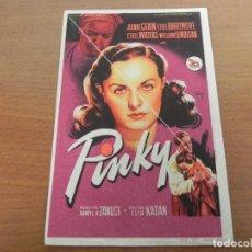 Cine: FOLLETO DE MANO (PINKY) JEANNE CRAIN / ETHEL BARRYMORE. Lote 151206874