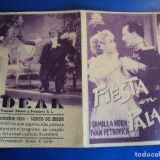 Cine: (PG-190279B) FIESTA EN PALACIO - IDEAL - AÑO 1935. Lote 151207014
