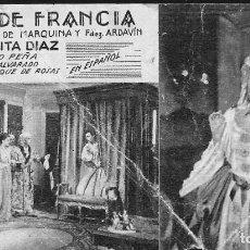 Cine: PROGRAMA DE CINE EN CARTÓN - ROSA DE FRANCIA (III) - ROSITA DÍAZ, JULIO PEÑA - 20 CENTURY FOX - 1935. Lote 151284910