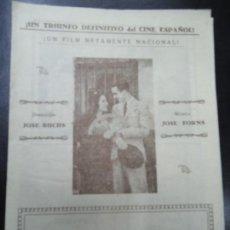 Cine: MUY RARO EL NIÑO DE LAS MONJAS 1926 GRANDE 32 X 22 JOSE BUCHS MUSICA DE JOSE FORNS CON RAQUEL RODRIG. Lote 151291838