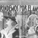 Cine: PROGRAMA DE CINE EN CARTÓN - BRINDEMOS POR EL AMOR - NINO MARTINI, GENEVIEVE TOBIN - FOX - 1935.. Lote 151301430
