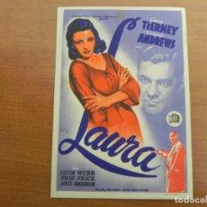 Cine: FOLLETO DE MANO (LAURA) GENE TIERNEY / DANA ANDREWS. Lote 151357434