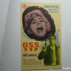 Cine: PROGRAMA O.S.S. 117 KERWIN MATHEWS - PUBLICIDAD GRANVIA -PREMIA DE MAR. Lote 151361250