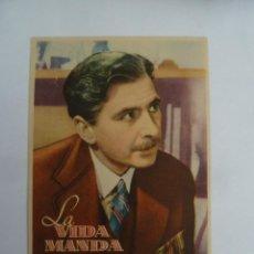 Flyers Publicitaires de films Anciens: LA VIDA MANDA DAVID LEAN FOLLETO DE MANO ORIGINAL PERFECTO ESTADO. Lote 151398566
