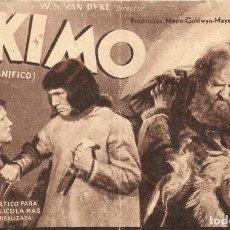 Cine: PROGRAMA DE CINE EN CARTÓN - ESKIMO. MALA EL MAGNÍFICO - W.S. VAN DYKE - MGM - 1933.. Lote 151416450