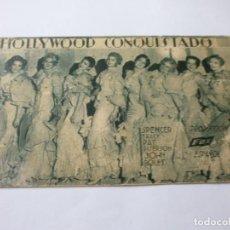 Cine: PROGRAMA DE CINE EN CARTÓN - HOLLYWOOD CONQUISTADO - SPENCER TRACY, PAT PATERSON - FOX - 1934.. Lote 151496090