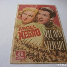 Cine: PROGRAMA DE CINE EN CARTÓN - EL ANGEL NEGRO - MARGARET SULLAVAN, JAMES STEWART - FOX - 1938.. Lote 151497098