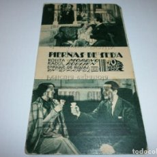 Cine: PROGRAMA DE CINE EN CARTÓN - PIERNAS DE SEDA - ROSITA MORENO, RAOUL ROULIEN - 20TH CENTURY FOX - 193. Lote 151497838