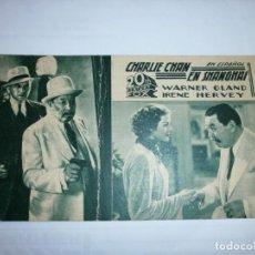 Cine: PROGRAMA DE CINE EN CARTÓN - CHARLIE CHAN EN SHANGHAI - WARNER OLAND,IRENE HERVEY - 20TH CENTURY FOX. Lote 151498242