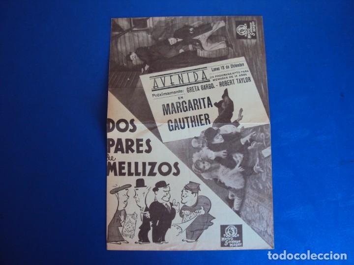 (PG-190345) DOS PARES DE MELLIZOS - AVENIDA (Cine - Folletos de Mano - Comedia)