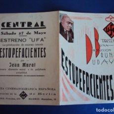 Cine: (PG-190348) ESTUPEFACIENTES - CENTRAL - AÑO 1933. Lote 151512442