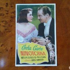 Cine: PROGRAMA DE MANO. CINE. NINOTCHKA. (ORIGINAL) 1939 - PERFECTO.. Lote 151568074
