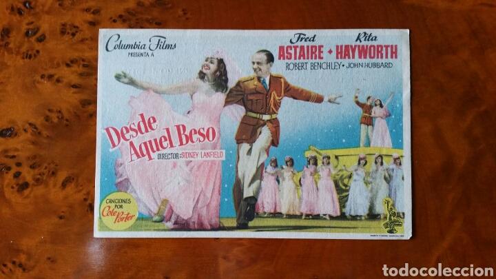 PROGRAMA DE MANO. CINE. DESDE AQUEL BESO. (ORIGINAL) 1951. - PERFECTO. (Cine - Folletos de Mano - Musicales)