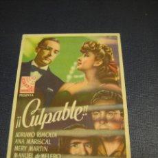 Cine: CULPABLE - CINE FEMINA. Lote 151570602