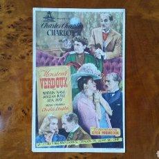 Cine: PASE DE MANO. CINE. MONSIEUR VERDOUX. (ORIGINAL) 1949.. Lote 151570898