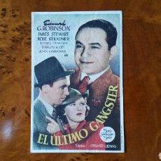 Cine: PASE DE MANO. CINE. EL ÚLTIMO GANGSTER. (ORIGINAL) 1946.. Lote 151571245