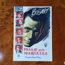 Cine: PASE DE MANO. CINE. PASAJE PARA MARSELLA. (ORIGINAL) 1949. Lote 151571677