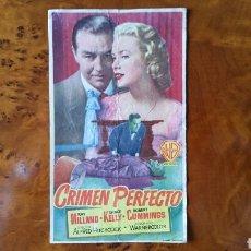Cine: PASE DE MANO. CINE. CRIMEN PERFECTO (ORIGINAL) 1955.. Lote 151572914