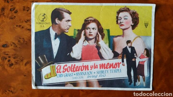PROGRAMA DE MANO. CINE. EL SOLTERON Y LA MENOR (ORIGINAL) 1949. (Cine - Folletos de Mano - Comedia)