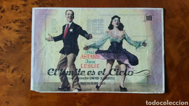PROGRAMA DE MANO. CINE. EL LÍMITE ES EL CIELO (ORIGINAL) 1943. (Cine - Folletos de Mano - Musicales)