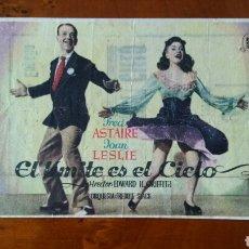 Cine: PASE DE MANO. CINE. EL LÍMITE ES EL CIELO (ORIGINAL) 1943.. Lote 151591390