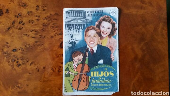 PROGRAMA DE MANO. CINE. HIJOS DE LA FARÁNDULA (ORIGINAL) 1939. (Cine - Folletos de Mano - Musicales)