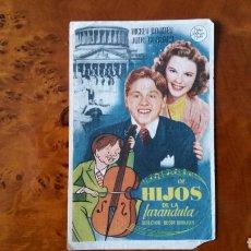 Cine: PASE DE MANO. CINE. HIJOS DE LA FARÁNDULA (ORIGINAL) 1939.. Lote 151592528