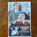 Cine: PROGRAMA DE MANO. CINE. BAILANDO NACE EL AMOR (ORIGINAL) 1946.. Lote 151592926