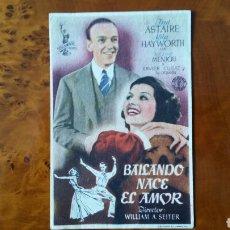 Cine: PASE DE MANO. CINE. BAILANDO NACE EL AMOR (ORIGINAL) 1946.. Lote 151592926